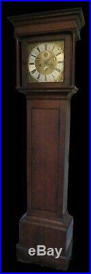 Early Longcase Clock. Moon, Tides, Date, Month of Year. Placidus Penyston. Rare