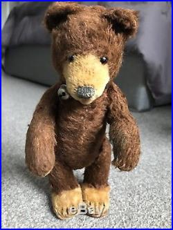 Early Rare Antique 9inch Mohair Brown Teddy Baby Bear No ID WithBell Buy Now NR