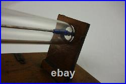 Early Rare Antique Geissler Crookes Xray Ray Tube Blue Glass Electrode Seals