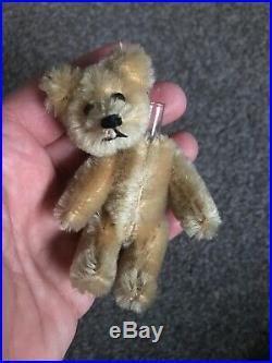 Early Rare Antique Tiny Miniature 3.5 Mohair Schuco Perfume Bear Nice Nr