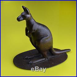Early & Rare Australian Bronze Kangaroo, Stokes & Sons of Sydney c. 1908 1920