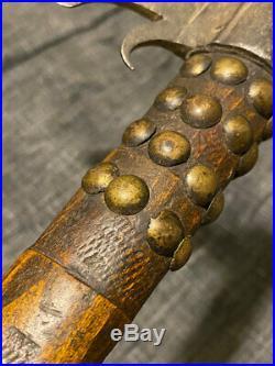 Early Rare Crow Indian Pipe Tomahawk Forged Spontoon Head Gun Barrel Bowl 1780