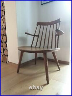 Early Sibbo Loungette Chair in Oak Signed Yngve Ekstrom Stolab mid century rare