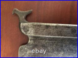 Early Wrought Iron PA Bird Decorated Cleaver -RARE