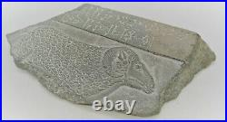 Extremely Rare Ancient Near Eastern Stone Tablet With Early Form Of Writing