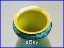 Extremely Rare & Early Green Art Glass Lamp c. 1910 Antique American vase