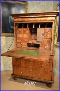 Fabulous 17th Century Rare Early Walnut Escritoire C1685
