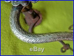 G. S. GARCIA Elko, Nevada Marked Antique RARE Early STERLING Silver Half-Breed BIT