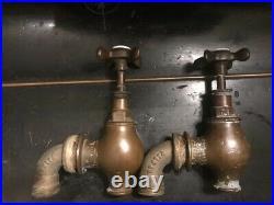 Globe Belfast Sink Taps Brass Bronze Early 19th Century Antique Bath Taps Rare