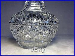 Gorgeous Rare Early Antique ABP Brilliant Period Master Cut Hawkes Vase