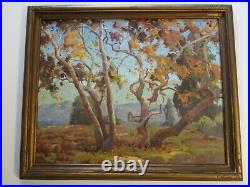 Howard Irwin Oil Painting Early California Impressionist Rare Landscape Antique