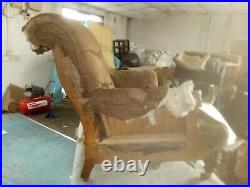 Howard & Sons Armchair Early 1800s Rare JC & S Casters