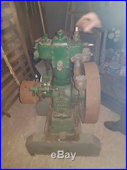 Keightley little giant 1.5hp very rare and early engine 1908-1915 on trolley