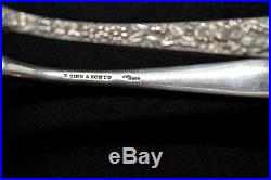 Kirk Repousse Sterling Slver Rare Early Sandwich Tongs