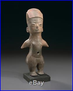 Large Tlatilco Standing Female Figure, Early Preclassic, 1200-900 B. C. RARE
