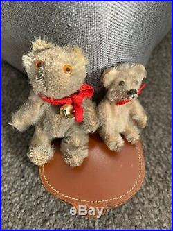Lot 2 Very RARE Early Antique Farnell Soldier Miniature Mohair Bear + Schuco NR