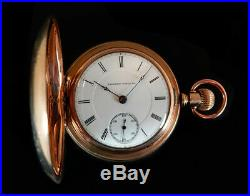 Mega Rare Antique Early Railroad 18s Illinois Pocket Watch Serviced