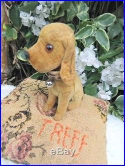 Mega Rare Early Velvet Steiff Treff Bloodhounds Adorable
