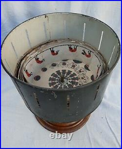 ORIGINAL ANTIQUE ZEOTROPE OR WHEEL OF LIFE WITH CARDS 19thC RARE EARLY FILM