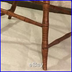 Original Antique Early 1800s Windsor Chair-Rare Form- Beautiful Tiger Maple