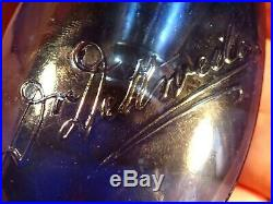RARE - 1800 / early 1900 SIGNED TUBERCULOSIS GLASS SPUTUM POCKET FLASK ANTIQUE