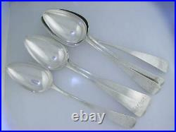 RARE 6 Early Coin Silver 9 1/4 Spoons NICHOLAS HUTCHINS Baltimore MD c1810-1829