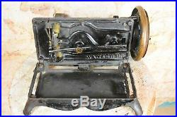 RARE Antique 1882 Wanzer B Sewing Machine Canada Hand Cranked Early Canadian