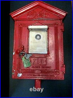 RARE Antique Early GameWell Fire Alarm Box COMPLETE GREAT CONDITION! Wisconsin