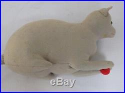 RARE Antique Large Steiff Felt CAT Early FF Button