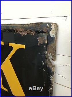RARE Antique Orig 1941 Fisk Boy Tires 1940s Metal Sign Early Gas Oil Auto 6ft