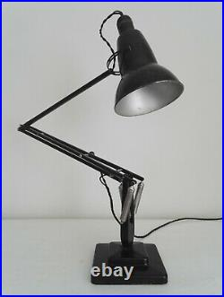 RARE EARLY ANGLEPOISE 1227 with BAKELITE SHADE. BLACK 2 STEP. HERBERT TERRY & SONS