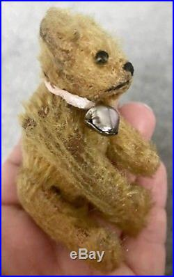 RARE EARLY ANTIQUE Circa 1910 Steiff 3.5 Miniature Brown BEAR NO ID BUY NOW NR