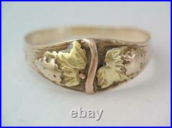 RARE EARLY ANTIQUE SIGNED CRIPPLE CREEK SOLID GOLD RING sz. 7 WOW