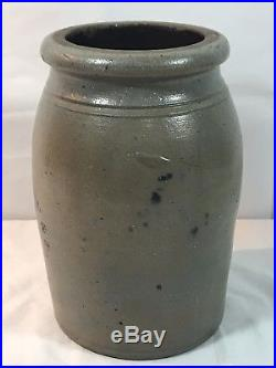 RARE EARLY Antique Original Jas Hamilton & Co 1 Gallon Salt Glazed Crock MINT ++