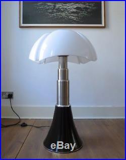 RARE EARLY GAE AULENTI PIPISTRELLO LAMP for MARTINELLI LUCE, ITALY 1965