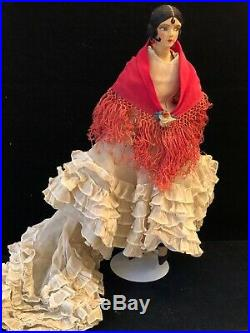 RARE EARLY NORAH WELLINGS SPANISH LADY BOUDOIR DOLL 18 Made In Spain