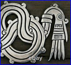 RARE EARlY William Spratling Sterling Wood Silver Applied Serpent 2pc Box 1940
