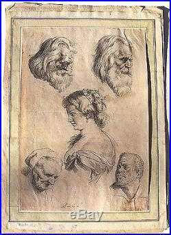 RARE Early 1600's 17th C Engraving Page From Peter Paul Ruben's Sales Book yqz