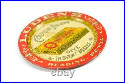 RARE Early 1900s Luden's Cough Drops Lithographed Antique Tip Tray Reading, PA