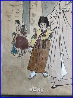 RARE Early 1940s Watercolor Painting Korean Korea Elizabeth Keith