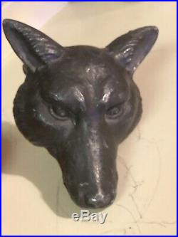 RARE! Early Antique Cast Iron Fox/Coyote/Wolf Head Beer Fountain Water Tap