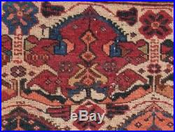 RARE Early Antique SE Persian Tribal AFSHAR Masnad Guest of Honor Seating Rug