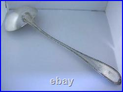 RARE Early Coin Silver 13 5/8 Soup Ladle T W RADCLIFFE Columbia SOUTH CAROLINA
