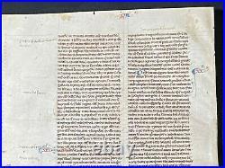 RARE Early Medieval Manuscript Vellum Bible Leaf, ENGLAND (Oxford), c. 1250