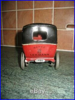 RARE LEHMANN TERRA LIMO CAR EARLY VERSION 1910s TINPLATE GERMANY ANTIQUE TIN TOY