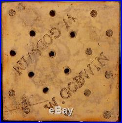 RARE & QUITE EARLY WILLIAM GODWIN GOTHIC REVIVAL TILE after A. W. N. PUGIN