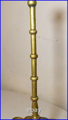 RARE antique early 19TH century English brass and cast iron ornate doorstop