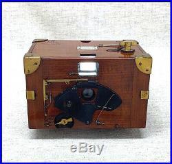Rare 1896 Redding's LUZO box camera for early roll film
