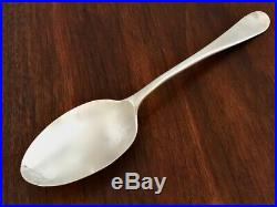Rare 18th C. Early Colonial Coin Silver Rattail Dessert Spoon