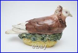 Rare 18th Century Early Meissen Antique German Porcelain Dove Pigeon Tureen